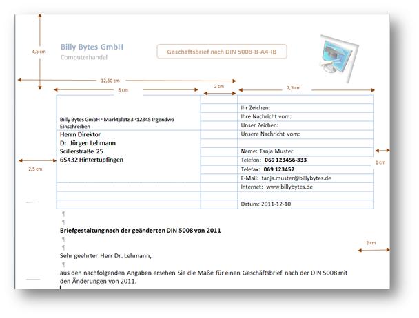 Brieflayout Form B Pages Vorlage Briefvorlage Nach Din 5008 Mit